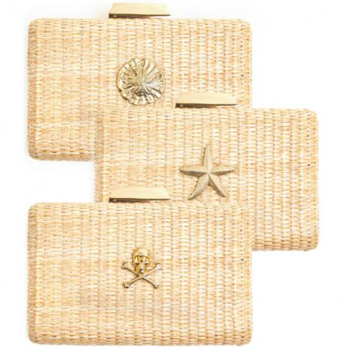 Lisi Lerch Mimi Straw Clutch  Apparel & Accessories > Handbags > Clutches & Special Occasion Bags