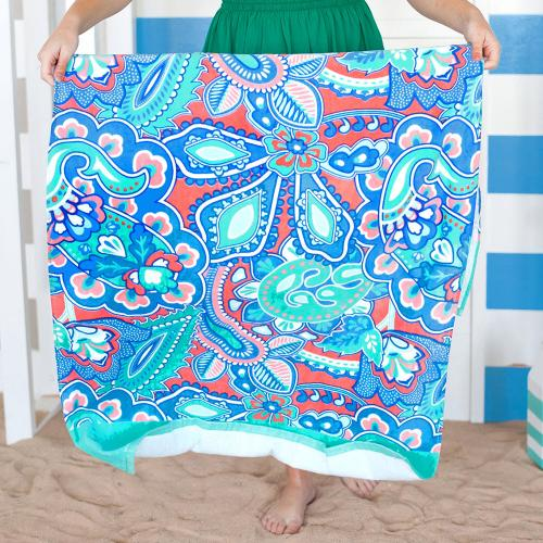 Personalized Island Bliss Beach Towel  Home & Garden > Linens & Bedding > Towels > Beach Towels