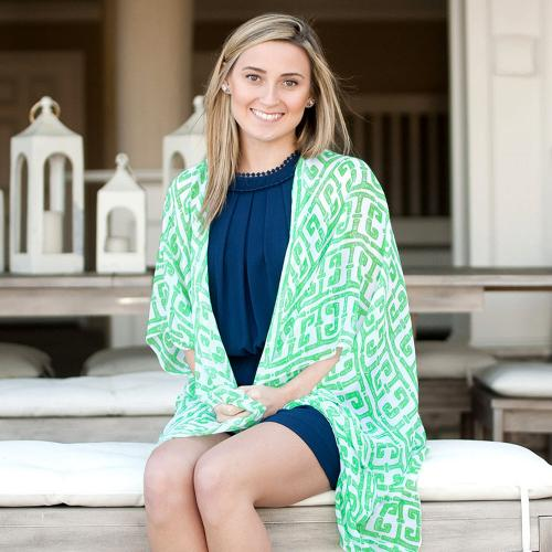 Tiki Green Eden Kimono Tiki Green Eden Kimono Apparel & Accessories > Clothing Accessories > Scarves & Shawls