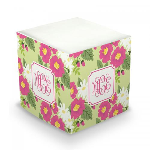 Personalized Memo Cube in Lillian Floral Bright  Office Supplies > General Supplies > Paper Products > Sticky Notes