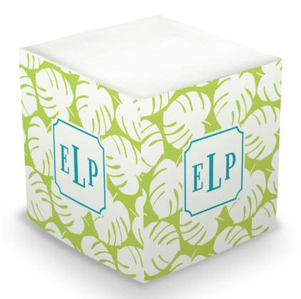 Personalized Palm Lime Memo Cube  Office Supplies > General Supplies > Paper Products > Sticky Notes