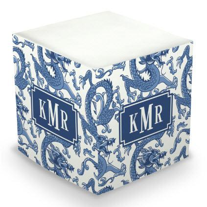 Personalized Imperial Blue Memo Cube  Office Supplies > General Supplies > Paper Products > Sticky Notes