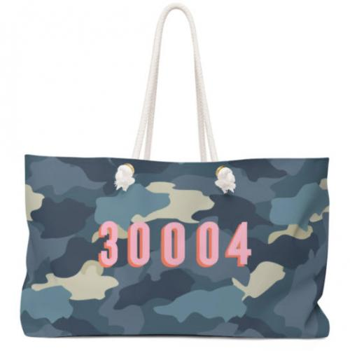 Clairebella Personalized Camo Blue Tote Clairebella Personalized Camo Blue Tote Apparel & Accessories > Handbags > Tote Handbags