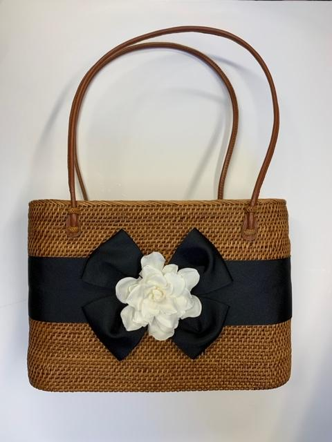 Lisi Lerch Charlotte with Bow and Gardenia Basket  Apparel & Accessories > Handbags > Shoulder Bags