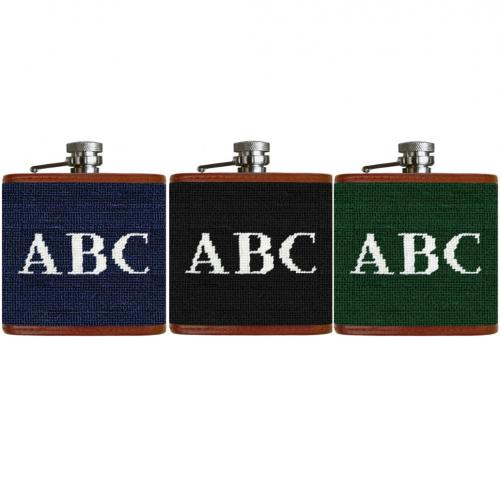Smathers and Branson Monogrammed Needlepoint Flask  Home & Garden > Kitchen & Dining > Food & Beverage Carriers > Flasks