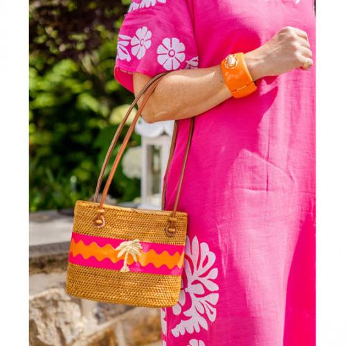 Lisi Lerch Medium Charlotte Ric Rac Palm Tree  Lisi Lerch Mediun Charlotte Ric Rac Palm Tree  Apparel & Accessories > Handbags > Shoulder Bags