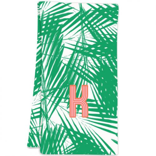 Clairebella Palm Leaves Hostess Towel  Home & Garden > Linens & Bedding > Towels