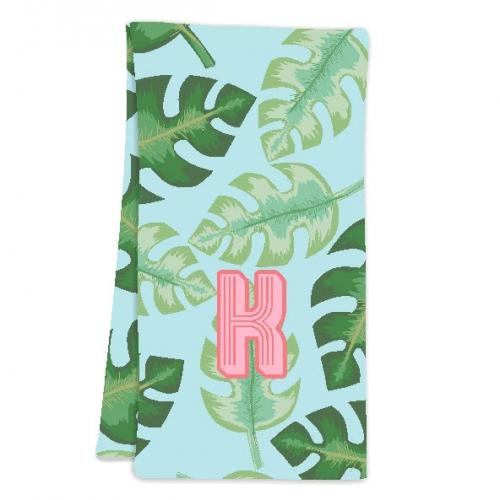 Clairebella Tropical Blue Hostess Towel  Home & Garden > Linens & Bedding > Towels
