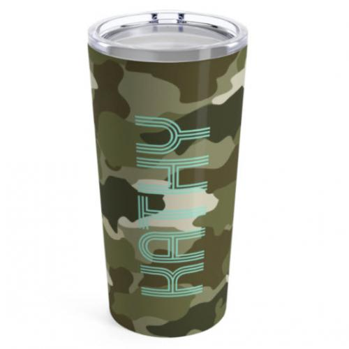 Clairebella Large Camo Green Tumbler  Home & Garden > Kitchen & Dining > Tableware > Drinkware > Tumblers