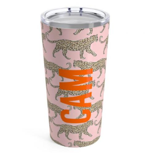 Clairebella Large Leopard Blush Tumbler  Home & Garden > Kitchen & Dining > Tableware > Drinkware > Tumblers