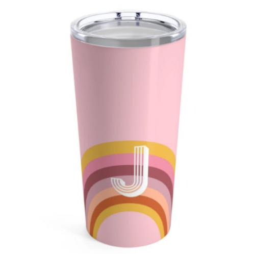 Clairebella Rainbow Large Pink Tumbler  Home & Garden > Kitchen & Dining > Tableware > Drinkware > Tumblers