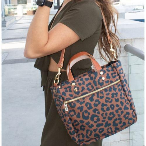 Boulevard Joey Leopard Personalized Tote   Apparel & Accessories > Handbags > Tote Handbags