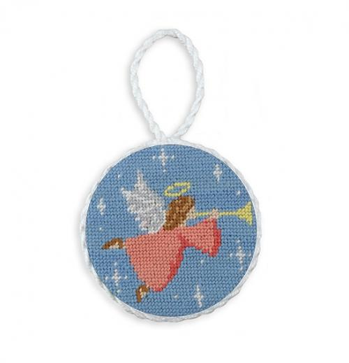 Needlepoint Angel Christmas Ornament by Smathers and Branson Needlepoint Angel Ornatment Home & Garden > Decor > Seasonal & Holiday Decorations > Holiday Ornaments
