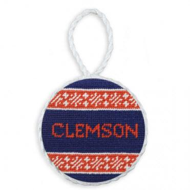 Clemson Fairisle Needlepoint Ornament Clemson Fairisle Needlepoint Ornament Home & Garden > Decor > Seasonal & Holiday Decorations > Holiday Ornaments