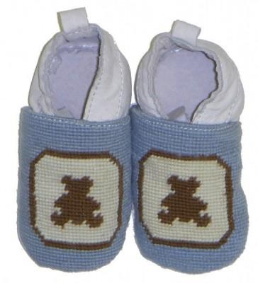 By Paige Baby Needlepoint Brown Bear Booties   Apparel & Accessories > Shoes > Baby & Toddler Shoes