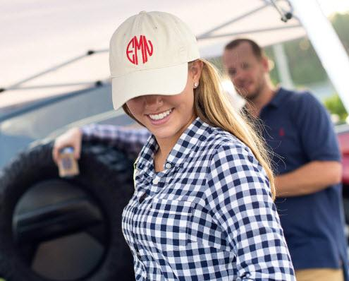 Monogrammed Ladies Baseball Hat in Many Colors  Apparel & Accessories > Clothing Accessories > Hats > Caps > Baseball Caps