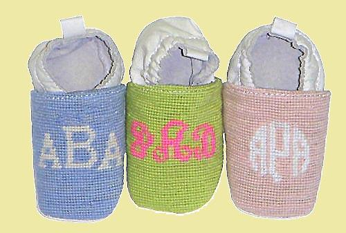 Discontinued - Monogrammed Booties  Baby & Toddler