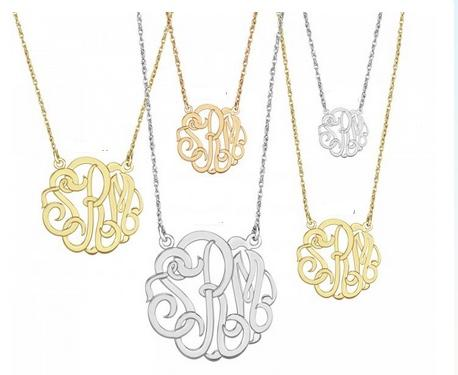 Monogrammed Three Letter Script Pendant   Apparel & Accessories > Jewelry > Necklaces