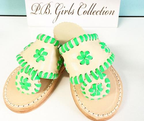 Palm Beach Classic Kids Preppy Sandals  Apparel & Accessories > Shoes > Sandals > Slide Sandals