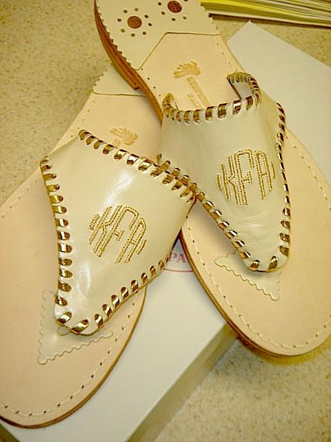 Chanel and Gold Palm Beach Sandale Chanel and Gold  Apparel & Accessories > Shoes > Sandals > Thongs & Flip-Flops