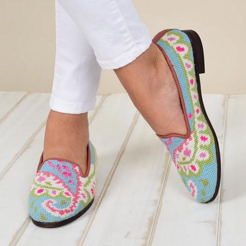By Paige Ladies Needlepoint Paisley Loafers  Apparel & Accessories > Shoes > Loafers