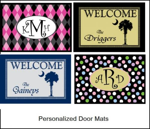 Monogrammed Welcome Mats  Home & Garden > Decor > Door Mats