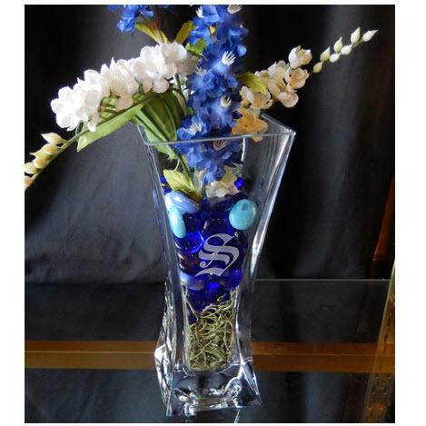 "Personalized 10"" Crystal Flared Vase Perfect Wedding gift  Home & Garden > Decor > Vases"