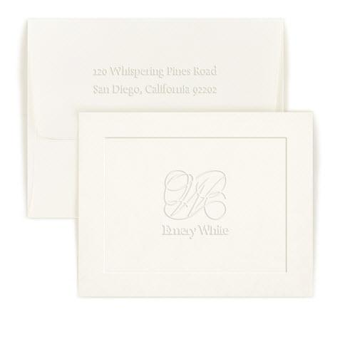 Personalized Capital Embossed Foldover Note  Office Supplies > General Supplies > Paper Products > Stationery