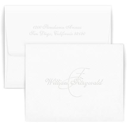 Personalized Monte Carlo Embossed Foldover Note  Office Supplies > General Supplies > Paper Products > Stationery