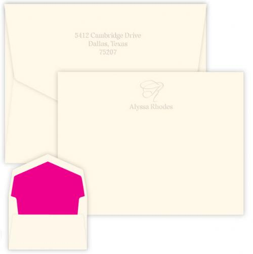 Personalized Embossed Capital Correspondence Card  Office Supplies > General Supplies > Paper Products > Stationery