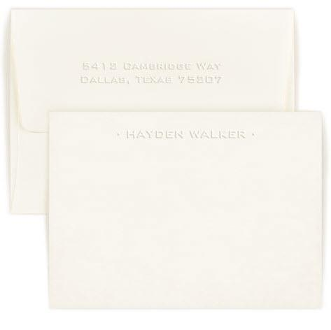 Personalized One Line Embossed Correspondence Card  Office Supplies > General Supplies > Paper Products > Stationery