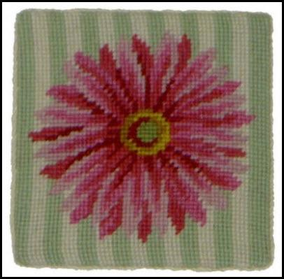 Set of Four Gerber Daisy Needlepoint Coasters gerber daisy coasters Home & Garden > Kitchen & Dining > Tableware > Trivets