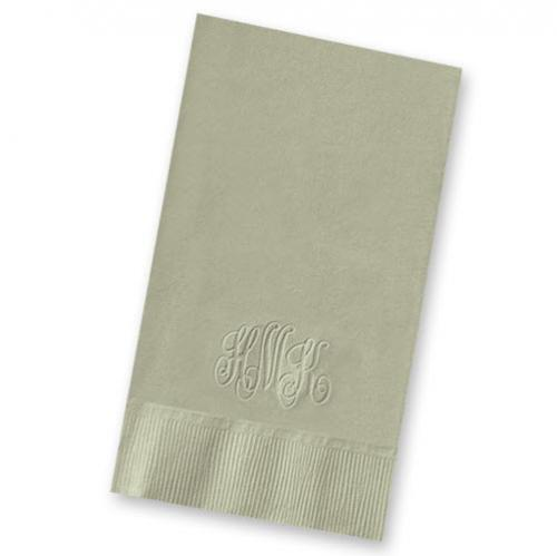 Embossed Classic Monogram Guest Towels  Arts & Entertainment > Party & Celebration > Party Supplies
