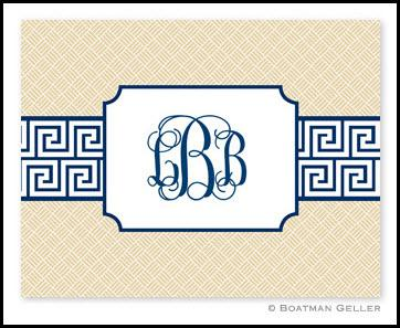 Boatman Geller Greek Key Monogrammed Notes  Office Supplies > General Supplies > Paper Products > Stationery