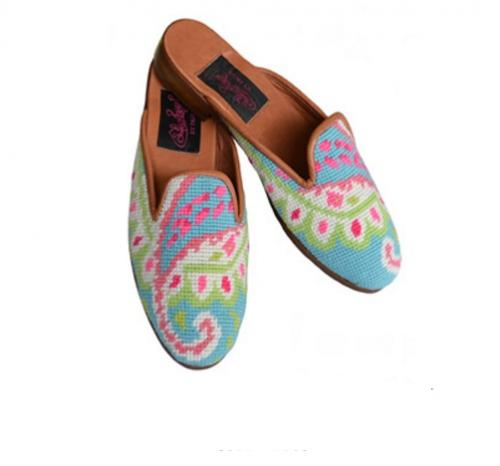 By Paige Ladies Needlepoint Preppy Paisley Mules   Apparel & Accessories > Shoes > Clogs & Mules