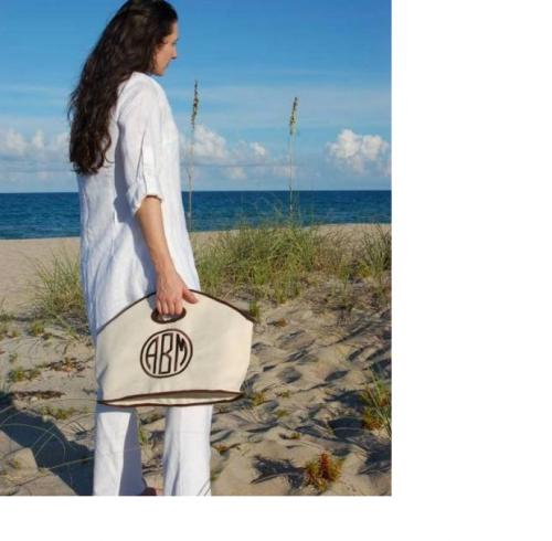 Monogrammed GG Beach Tote  Apparel & Accessories > Handbags > Tote Handbags