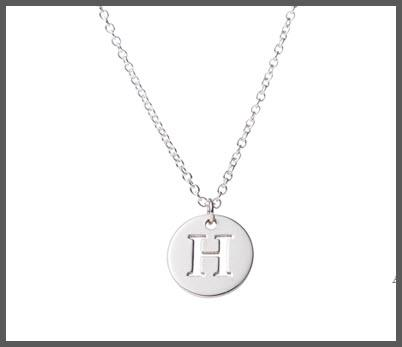 Petite Single Initial Sterling Silver Necklace  Apparel & Accessories > Jewelry > Necklaces