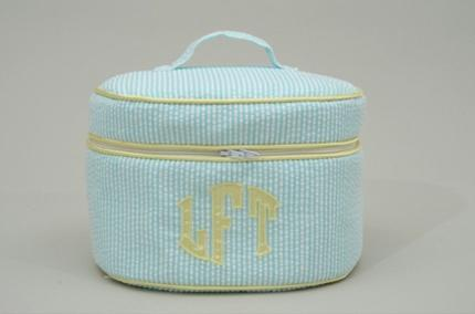 Monogrammed Talley Ho Designs Oval Train Case  Luggage & Bags > Train Cases