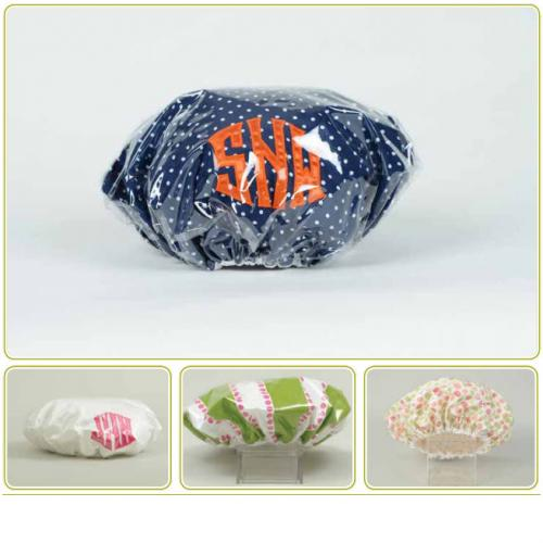 Monogrammed Talley Ho Designs Vinyl Covered  Shower Cap  Home & Garden > Bathroom Accessories