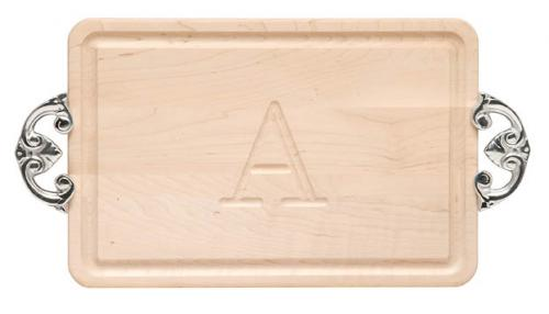 "Personalized Cutting Board With Classic Handles 10"" x 16""  Home & Garden > Kitchen & Dining > Kitchen Tools & Utensils > Cutting Boards"