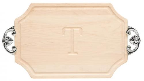 "Personalized Cutting Board 12x18"" Scalloped Maple With Classic Handles  Home & Garden > Kitchen & Dining > Kitchen Tools & Utensils > Cutting Boards"