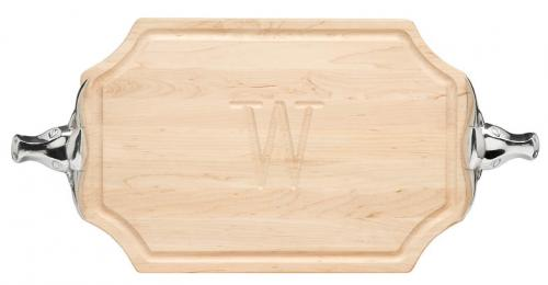 Personalized Cutting Board With Longhorn Handles  Home & Garden > Kitchen & Dining > Kitchen Tools & Utensils > Cutting Boards