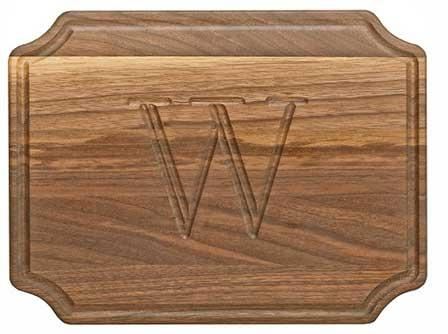 "Personalized Cutting Board 9x12"" Scalloped Walnut Wood   Home & Garden > Kitchen & Dining > Kitchen Tools & Utensils > Cutting Boards"