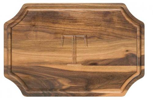 "Personalized Cutting Board 12x18"" Scalloped Walnut Wood  Home & Garden > Kitchen & Dining > Kitchen Tools & Utensils > Cutting Boards"