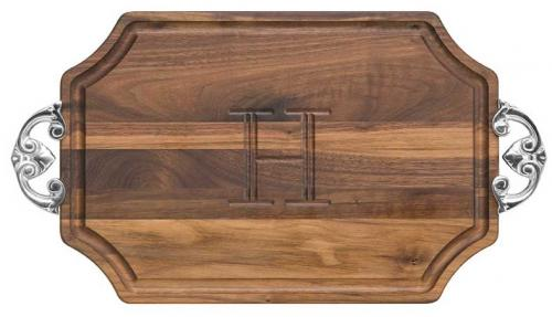 Personalized Cutting Board Scalloped Walnut Wood   Home & Garden > Kitchen & Dining > Kitchen Tools & Utensils > Cutting Boards