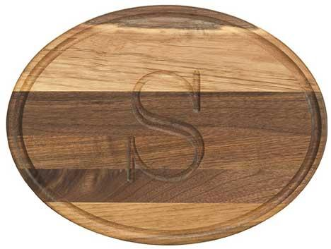 "Personalized Cutting Board 9x12"" Oval Walnut Wood   Home & Garden > Kitchen & Dining > Kitchen Tools & Utensils > Cutting Boards"