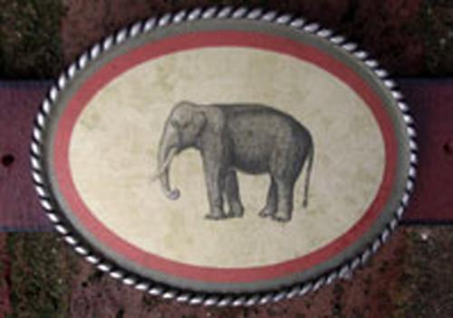 Loopty Loo Elephant Belt Buckle Elephant Belt Buckle Apparel & Accessories > Clothing Accessories > Belt Buckles