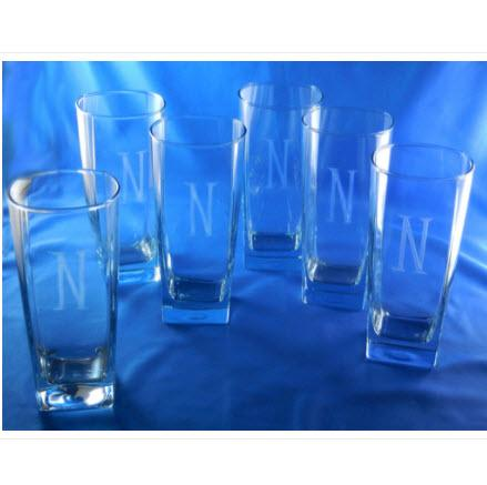 Personalized Retro Sterling Glasses Set of 6  Home & Garden > Kitchen & Dining > Barware