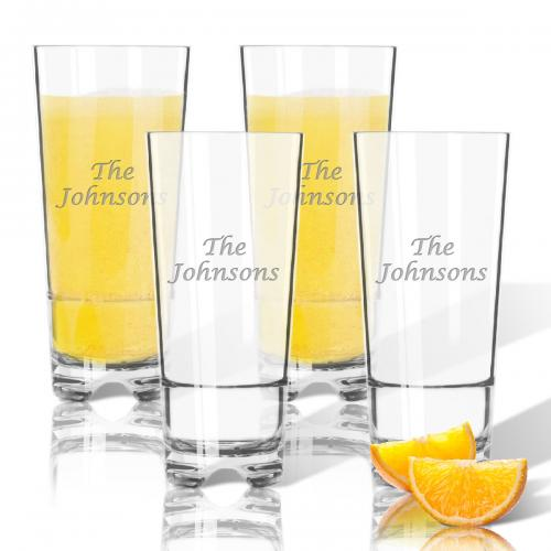 Monogrammed Highball Style Acrylic Glasses Set Of Four  Home & Garden > Kitchen & Dining > Tableware > Drinkware > Highball Glasses