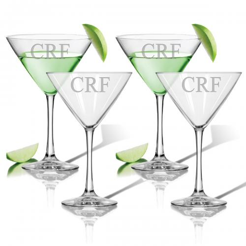 Monogrammed Martini Stemware Set  Home & Garden > Kitchen & Dining > Tableware > Drinkware > Stemware
